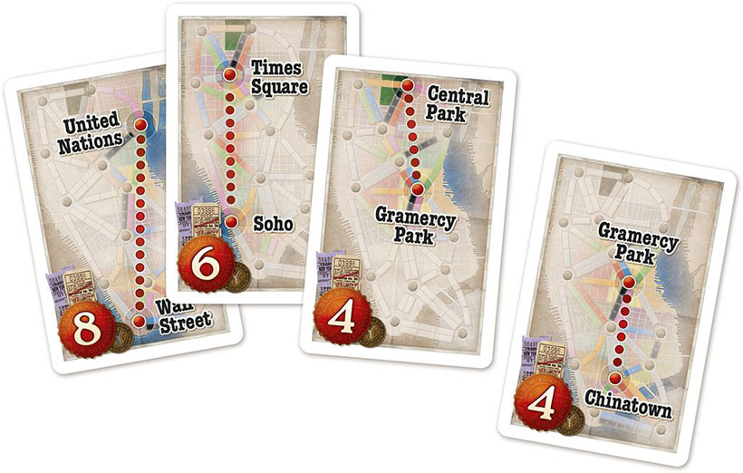 Ticket to Ride: New York - Route Cards