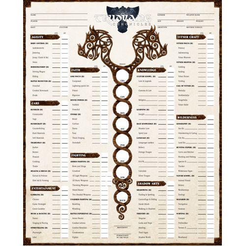 Trudvang Chronicles: Character Sheets