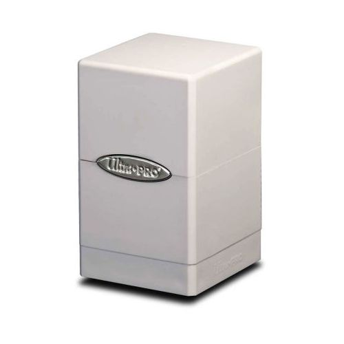 White Satin Tower Deck Box