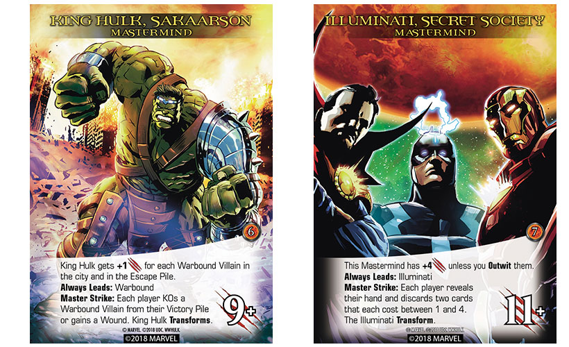World War Hulk Review - King Hulk and Illuminati Cardsi
