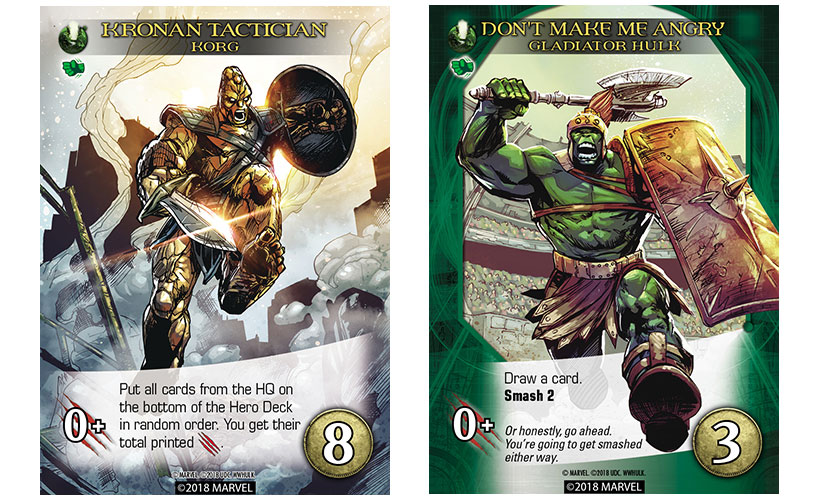 World War Hulk Review - Korg and Gladiator Hulk Cards