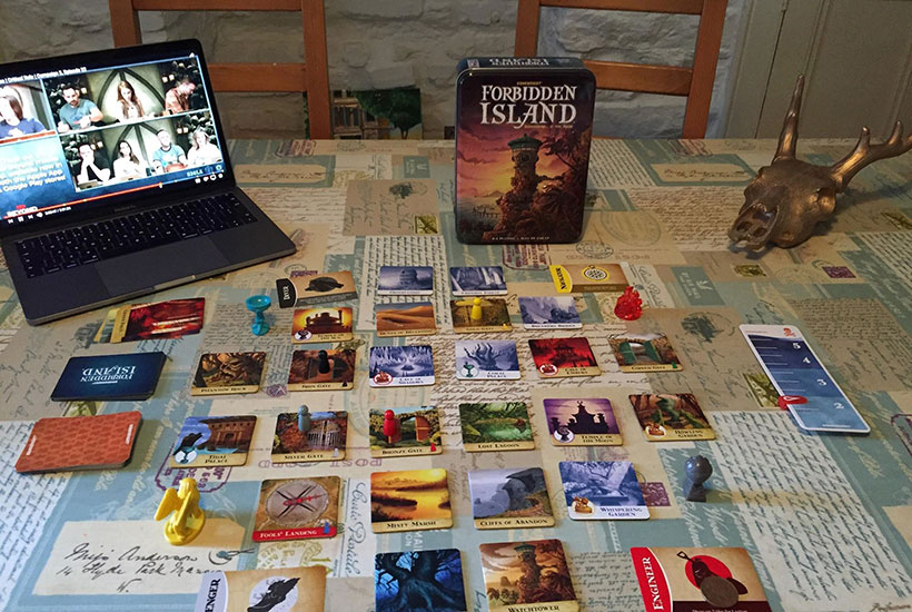 Playing Forbidden Island Board Game