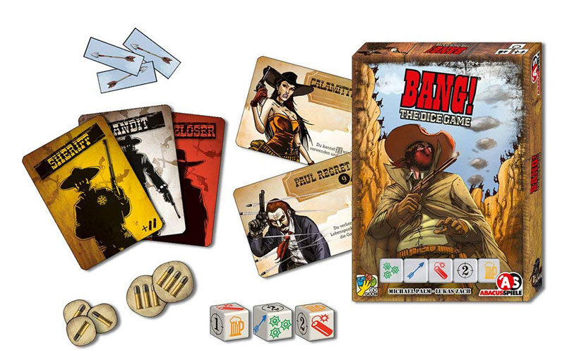 Bang! The Dice Game Review - Game Components