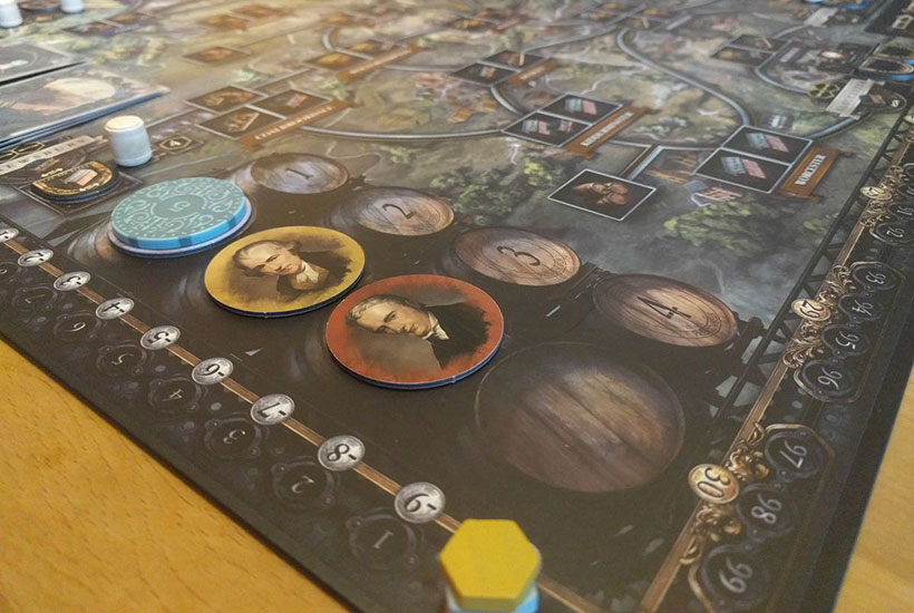 Brass Birmingham Review - Board and Tokens