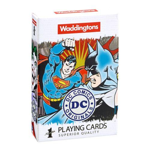 DC Superheroes Retro - Waddingtons No1 Playing Cards