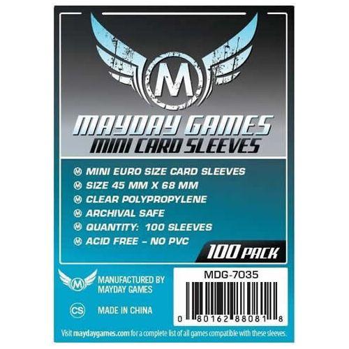 Mayday 100 Clear Mini European Card Sleeves 45 x 68mm