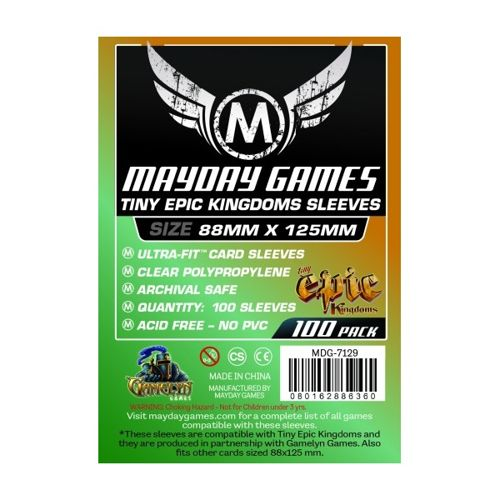 Mayday 100 Clear Standard Card Sleeves 88 x 125mm