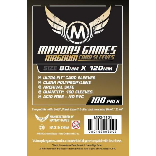 Mayday Magnum 100 Card Sleeves 80mm x 120mm