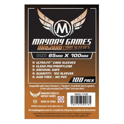 Mayday Magnum Ultra Fit 100 Card Sleeves 65 x 100mm