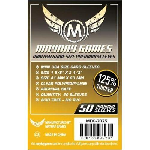 Mayday Premium 50 Clear Mini American Card Sleeves 41 x 63mm