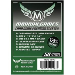 Mayday Premium 50 Clear Standard Card Sleeves 63.5 x 88mm
