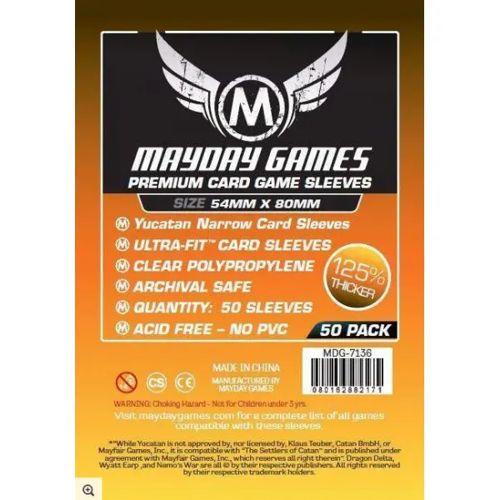 Mayday Premium 50 Clear Yucatan Card Sleeves 54 x 80mm
