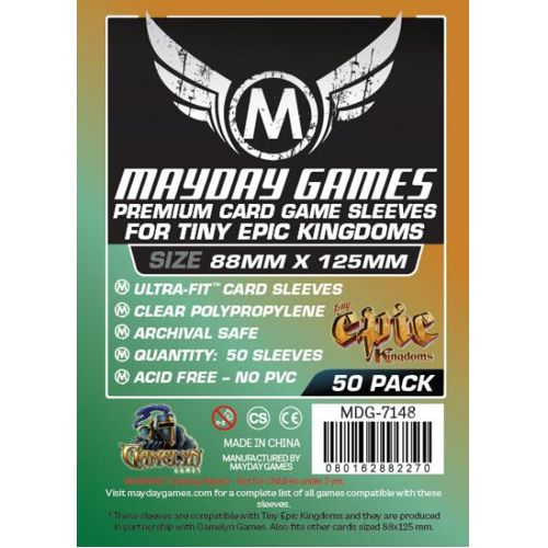 Mayday Premium 50x Clear Card Sleeves 88 x 125mm