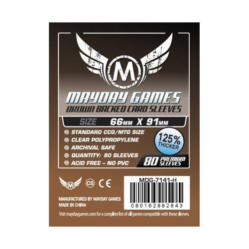 Mayday Premium 80 Brown Card Sleeves 63.5 x 88mm