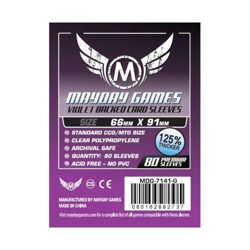 Mayday Premium 80 Purple Card Sleeves 63.5 x 88mm