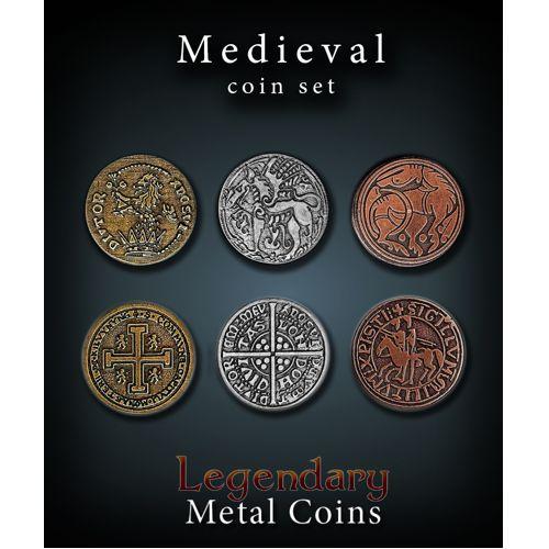 Medieval Coin Set Legendary Metal Coins