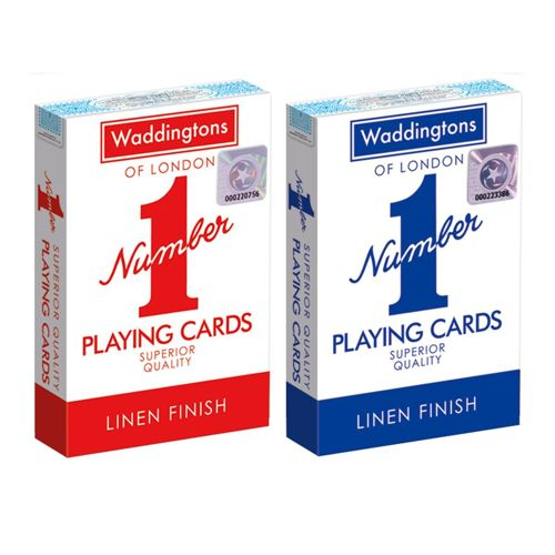 Original Classic Red and Blue - Waddingtons No1 Playing Cards