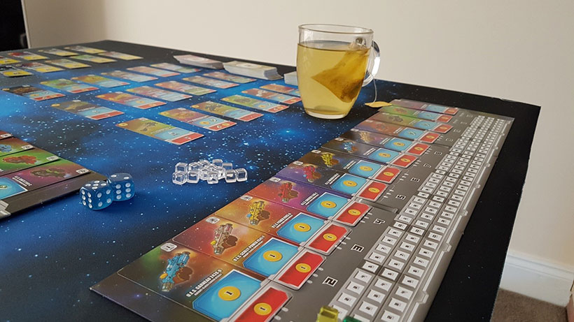 Playing Space Base Board Game