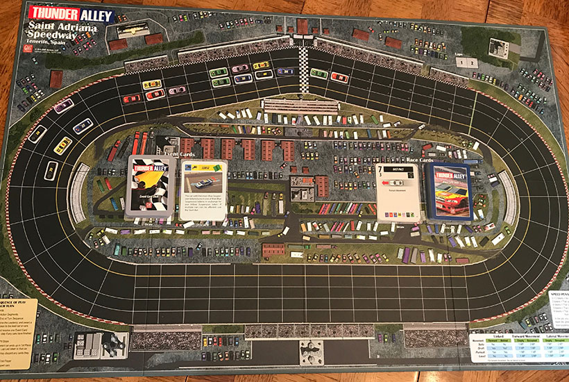Thunder Alley Review - Track Board