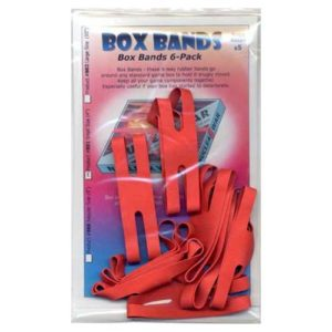 Box Bands: Small size (Pack of 8) RED
