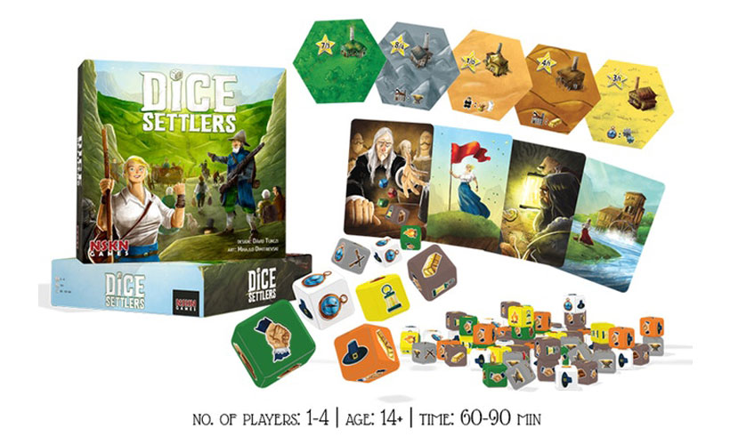 Dice Settlers Review - Box Content