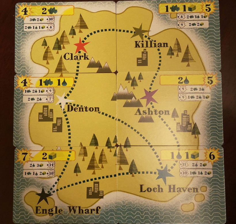 Isle of Trains Review - Map Cards