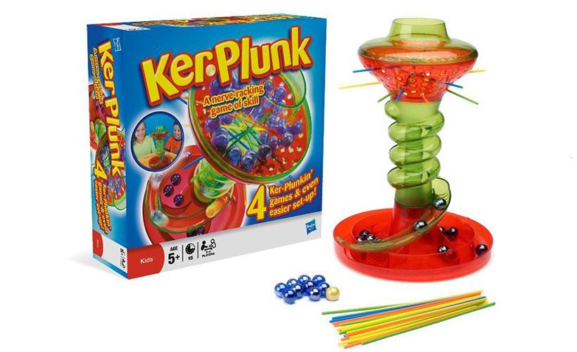 Kerplunk Board Game Components