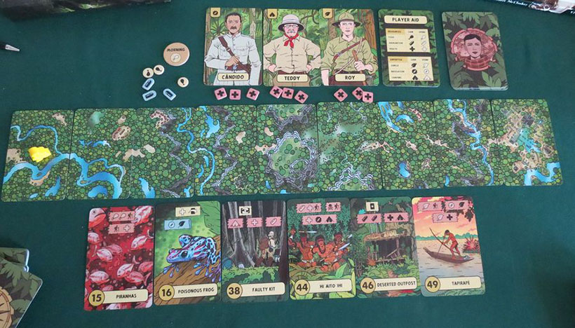 Playing The Lost Expedition Board Game