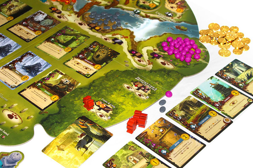Playing a game of Everdell