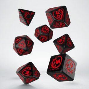Q-Workshop Dragon Black & Red Dice Set