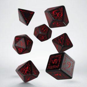 Q-Workshop Elvish Black & Red Dice Set