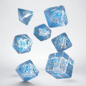 Q-Workshop Elvish Translucent & Blue Dice Set