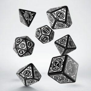 Q-Workshop Steampunk Clockwork Black & White Dice Set