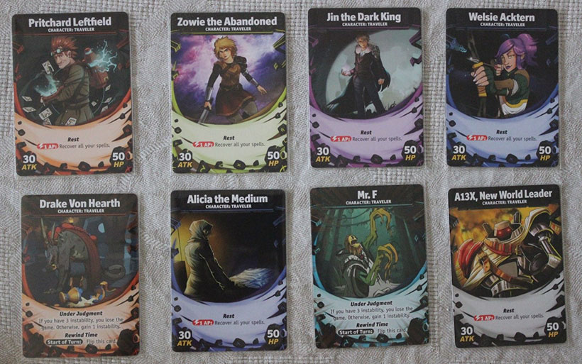 Temporal Odyssey Review - Character Cards
