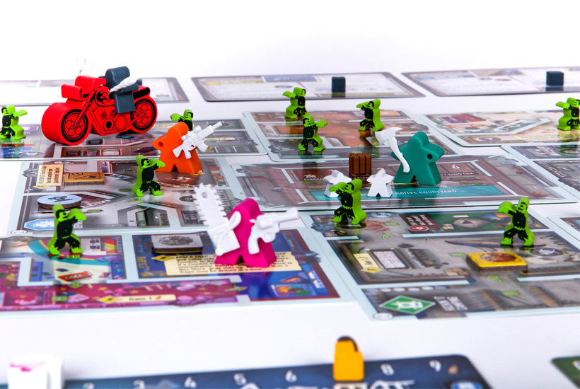 Tiny Epic Zombies - ITEMeeples and Vehicles