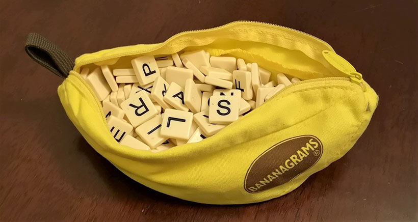 Bananagrams Review - Pouch with Tiles