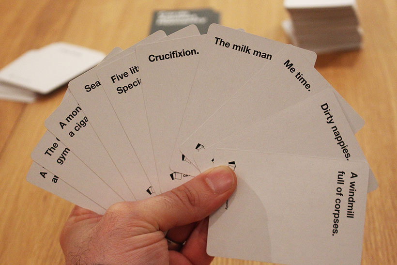 Cards Against Humanity Review - Answer Cards
