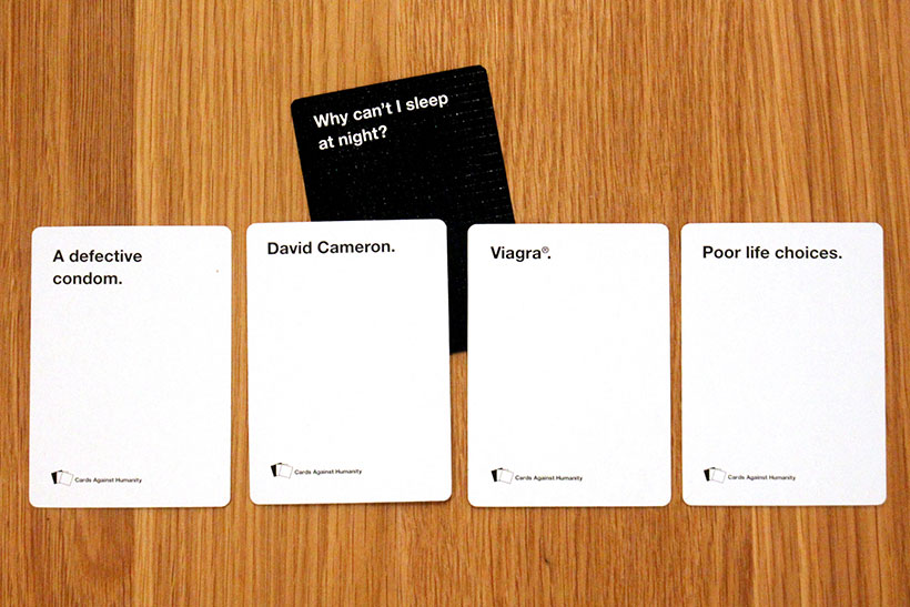 Cards Against Humanity Review - Question with Answers
