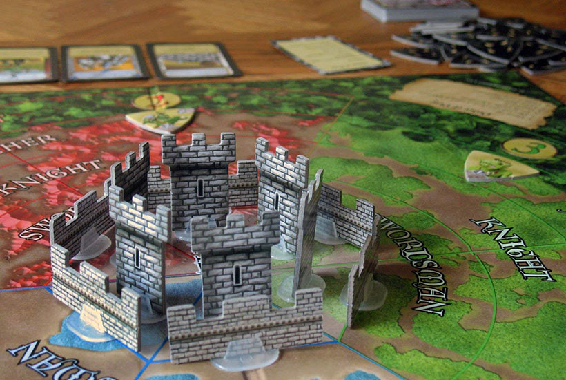 Castle Panic Review - Castle and Board