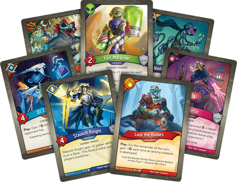 KeyForge Review - Character Cards