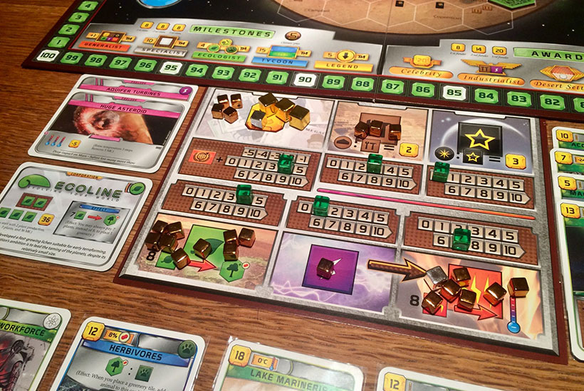 Terraforming Mars Prelude Review - Dashboard