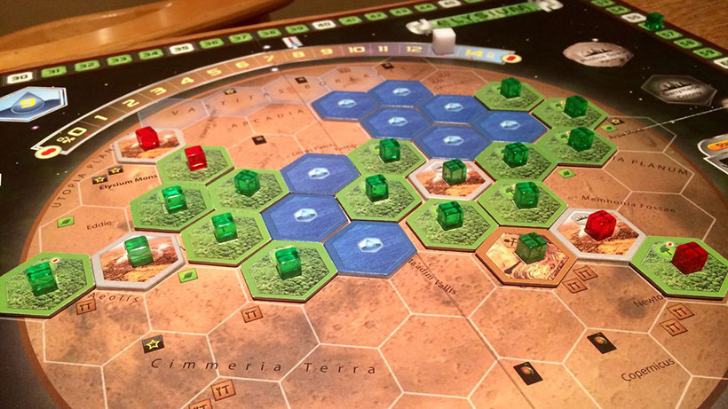 Terraforming Mars Prelude Review - On the board