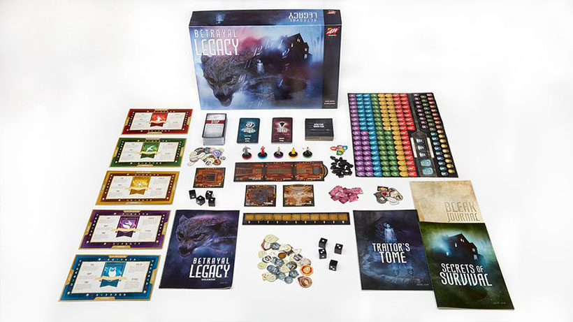 Betrayal Legacy Review - Game Components