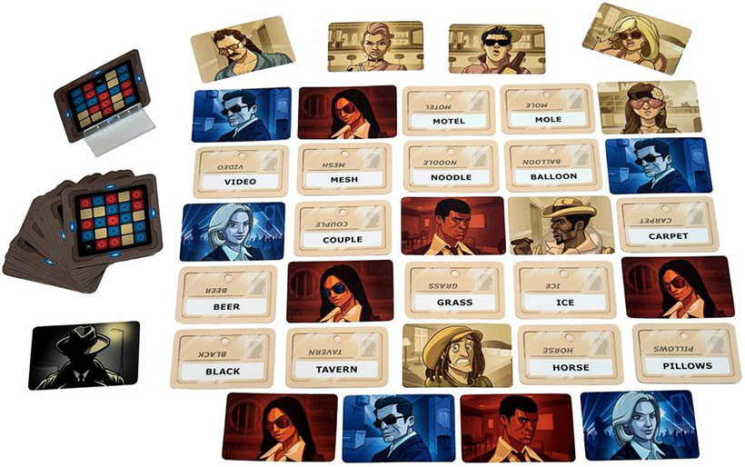 Codenames: Deep Undercover - Game Set-Up