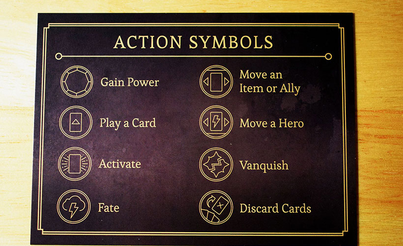 Disney Villainous Review - Action Symbols Card
