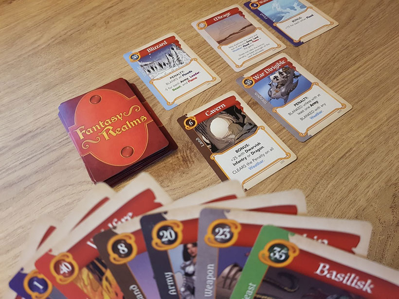 Playing Fantasy Realms Card Game