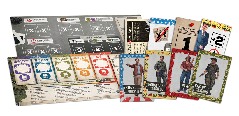 Narcos Board Game Review - Game Components