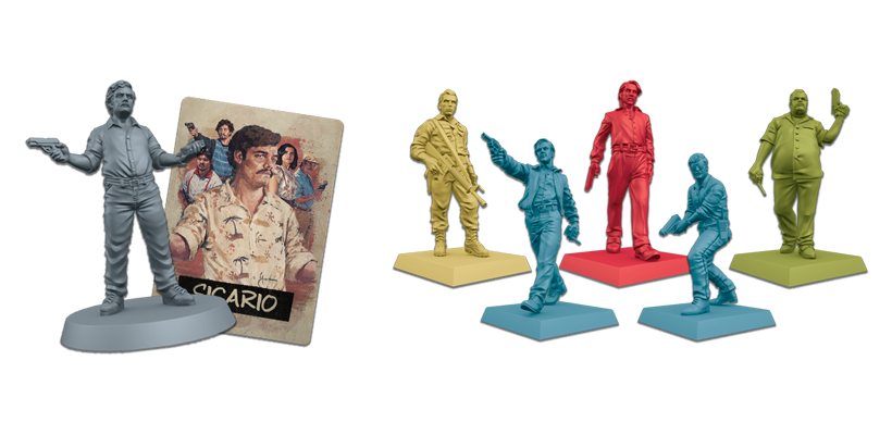 Narcos Board Game Review - Miniatures