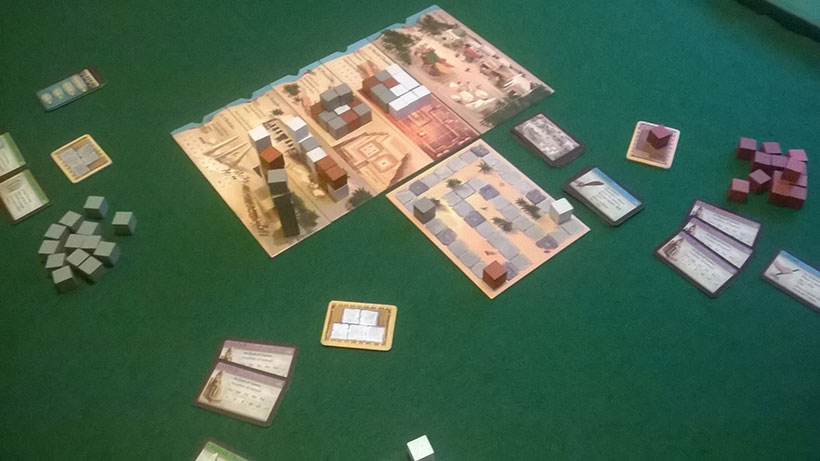 Playing Imhotep Board Game