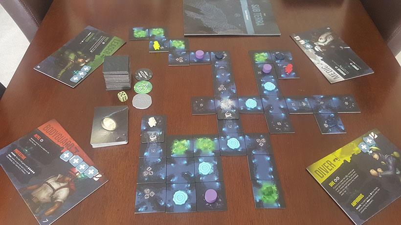 Playing Sub Terra board Game
